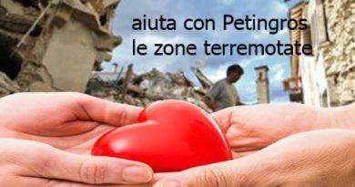 Terremoto in centro Italia Raccolta fondi Petingros